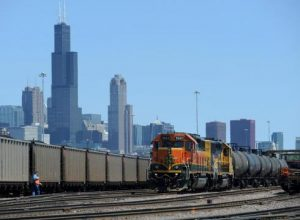 BNSF train in Chicago, photo USA Today