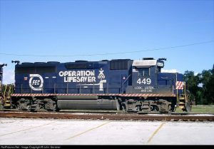 FEC loco for Operation Lifesaver from Railpictures.net