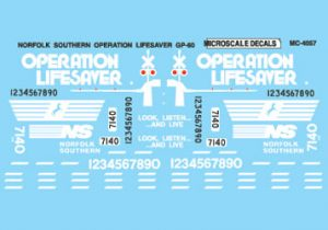 Microscale decal sheet MC-4057 for Operation Lifesaver