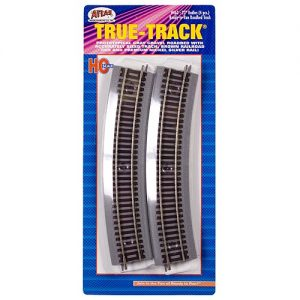 Atlas is one manufacturer of sectional track but there are a number of manufacturers for almost every scale. The sectional track shown above even comes with detachable roadbed.
