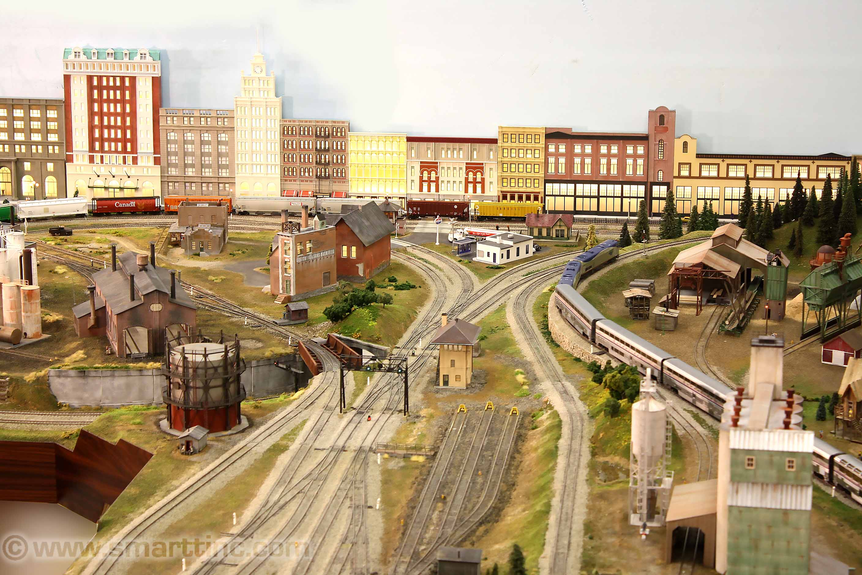 ho scale 12 ft x 19 ft el layout