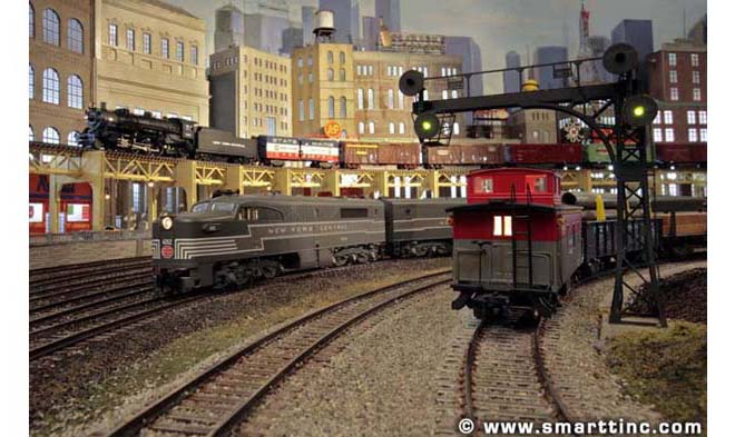 S scale model railroad