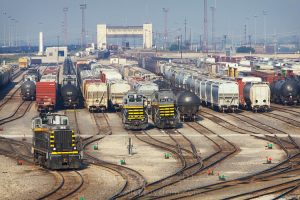 The massive Clearing Yard in Chicago, operated by the Belt Railroad of Chicago  is considered the busiest railroad yard in the world. Photo by Nick Suydam.