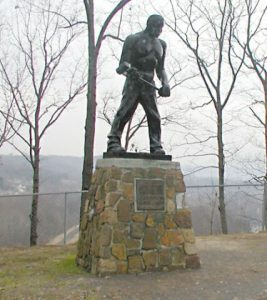 John Henry Monument, Big Bend Tunnel West Virginia     Photo The Alliance
