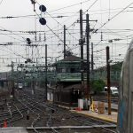 K Tower, lots of track, lots of catenary. Photo Caseyjonz, Wikipedia
