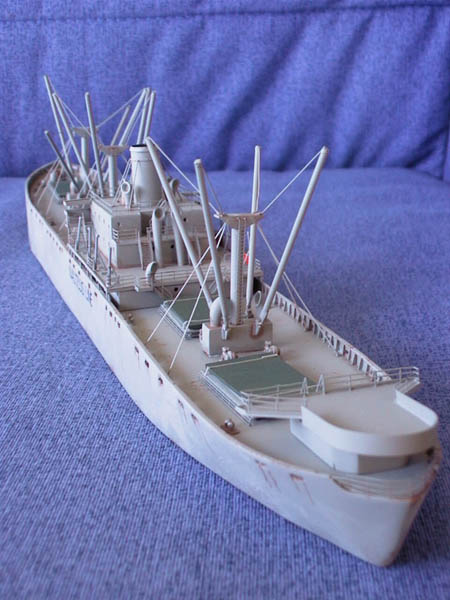 A post war Liberty Ship in 1/350 scale, Photo Smmionline .com