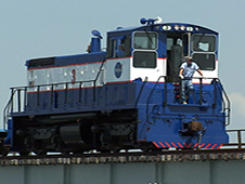 One of NASA's Locomotives.  Photos of the NASA trains come fromhttp://www.nasa.gov/mission_pages/shuttle/flyout/railroad.html