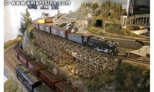 O and S scale together on a Detroit layout