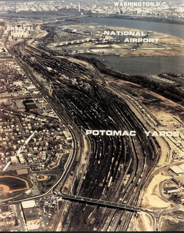 Here is an aerial view of Pot yards. As you can see it took up a lot of valuable property.         Photo trainweb.com