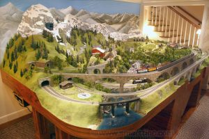 HO scale 9' x 15' European themed layout with automatic operation