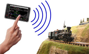 Control your model train with your phone? Not such a far fetched idea!