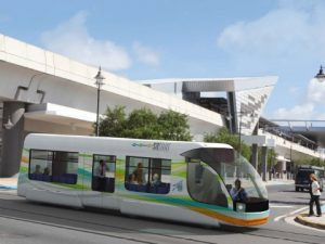 The proposed light rail tram car (conceptual) photo found in forums on skyscrapercity.com