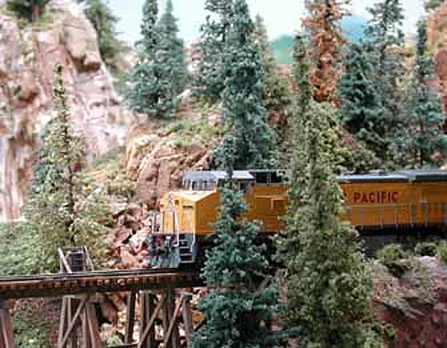 Timberlines' Pines with real wooden trunks. Photo from their website