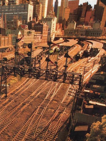 Rod Stewart Grand Street & Three Rivers model railroad, lots of detail here, photo O gauge magazine.
