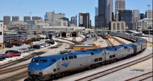 Amtrak Lakeshore leaving Chicago, photo ettractions.com