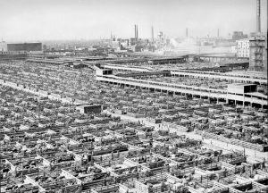 Union Stock Yards 1947, photo, Wikipedia