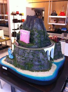 SMARTT's Volcano Train looks right at home at Marc Jacob's Greenwich Village store for Fashion Week 2012