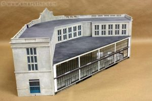 The South Station model is based on the 3D image that Google Earth provided. More photos of this project are here.