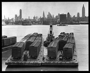 Hudson River carfloats, photo NY State Archives