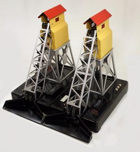 Twin Lionel coal elevators fresh from the box and ready to be weathered and detailed