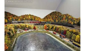 A SMARTT layout featuring PA's Horseshoe Curve in Autumn. Notice the colors of the deciduous trees.
