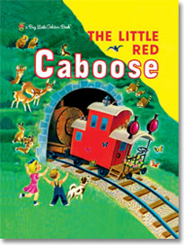 """Book, """"The Little Red Caboose"""" photo Golden Books"""