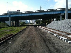 FEC Port of Miami project construction photo from transitmiami.com