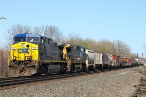 A CSX manifest freight in Northwestern Pennsylvania, photo ironmike9 Flickr