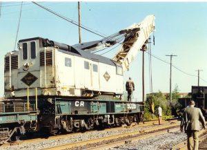 Ex Reading RR 250 ton crane, photo ramchargercentral.com