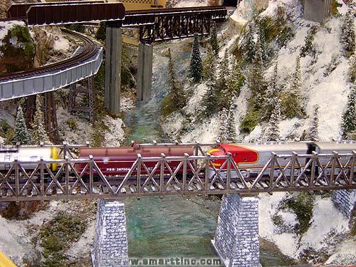 Networks of intercrossed bridges were a  John Allen hallmark.