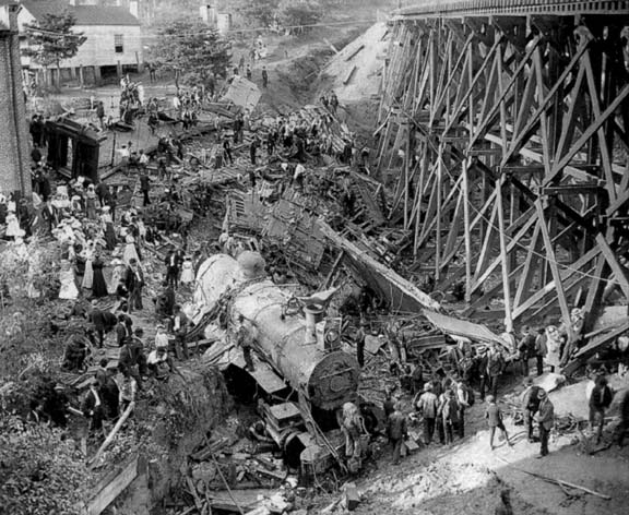 The wreck of the Old 97 inspired a musical tribute (image believed to public domain, from Wikipedia)