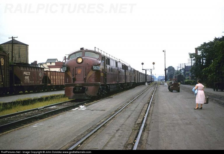 A typical PRR second class passenger train on its way to Buffalo NY  Photo Railpictures.net John Dziobko