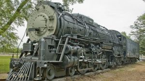 Santa Fe 4-6-4 #3463 being prepared for the move to Minnesota, photo CRS