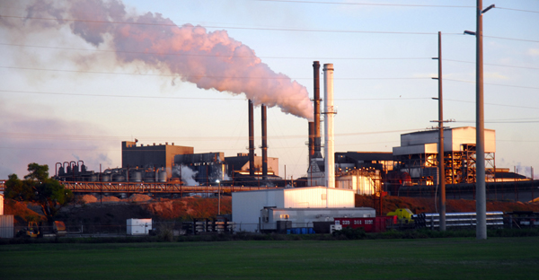 CAPTION:  THE US SUGAR PLANT IN CLEWISTON, FL.