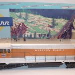 A Blue Box Athearn U-28b in Western Pacific colors. photo from auctive.com.